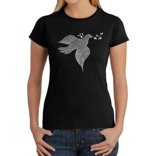 Los Angeles Pop Art Women's Dove T-Shirt (More options available)