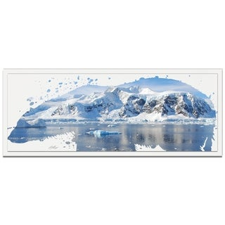 Adam Schwoeppe 'Polar Bear Arctic' 48in x 19in Animal Silhouette on White Metal