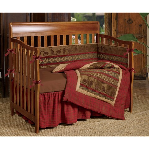 HiEnd Accents Baby Cascade Lodge 6-piece Crib Bedding Set