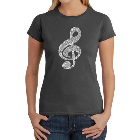 Los Angeles Pop Art Women's Music Note T-Shirt