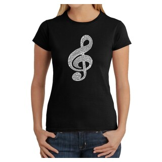 Los Angeles Pop Art Women's Music Note T-Shirt