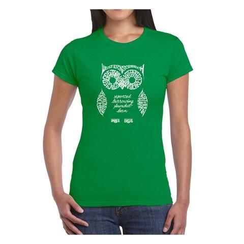Los Angeles Pop Art Women's Owl T-Shirt