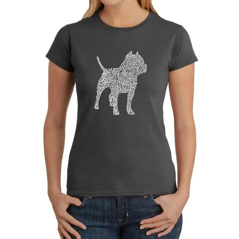 Los Angeles Pop Art Women's Pitbull T-Shirt