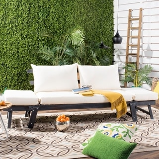 Safavieh Outdoor Living Tandra Grey/ Beige Modern Contemporary Daybed
