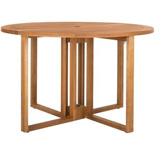 Safavieh Wales Teak Round 47.24-Inch Dia Dining Table|https://ak1.ostkcdn.com/images/products/15907772/P22311768.jpg?impolicy=medium