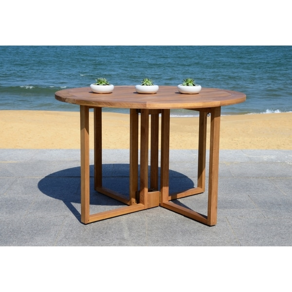 Safavieh Wales Round 47 24 Inch Dia Dining Table