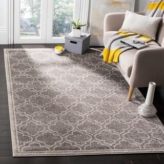 Safavieh Amherst Indoor / Outdoor Grey / Light Grey Rug (7' Square)