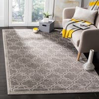 Safavieh Amherst Indoor / Outdoor Grey / Light Grey Rug - 7' Square