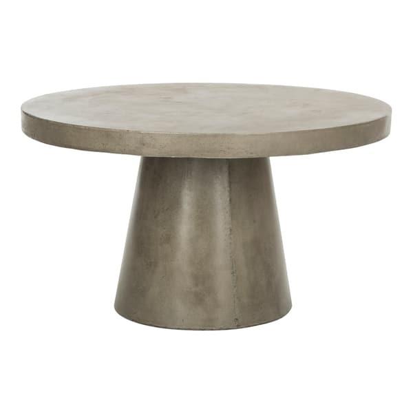 Shop Safavieh Delfia Dark Grey Modern Concrete Round Indoor