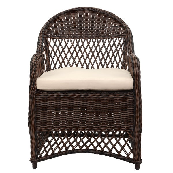 Shop Safavieh Outdoor Living Davies Brown/ Beige Wicker ... on Outdoor Living Wicker id=47170