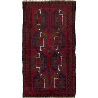 ecarpetgallery Bahor Red Wool Rug (3'6 x 6'3)