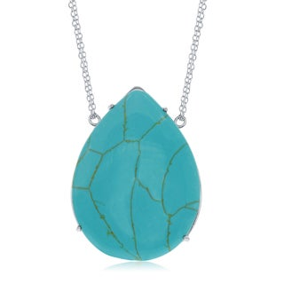 La Preciosa Sterling Silver Turquoise, Onyx, or Mother of Pearl Necklace