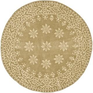Martha Stewart by Safavieh Gracious Garden Spud / Camel Wool Area Rug - 8' Round