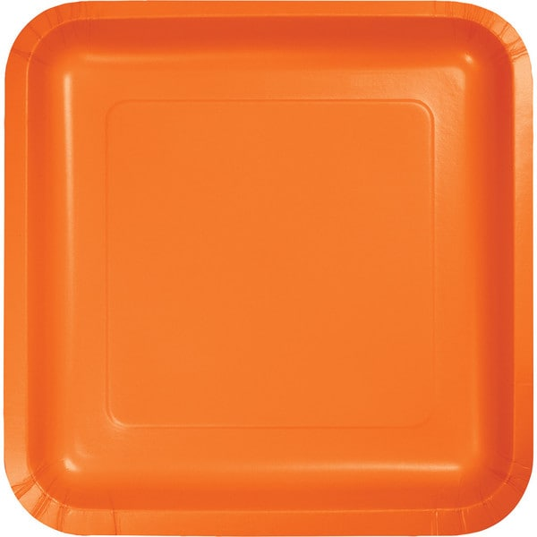 Touch of Color Square Deep Dish 9 inch Dinner Plates Sunkissed Orange Case of 180  sc 1 st  Overstock & Touch of Color Square Deep Dish 9 inch Dinner Plates Sunkissed ...