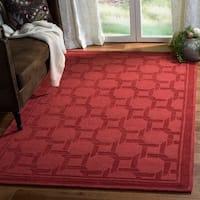 Martha Stewart by Safavieh Resort Weave Sealing Wax / Red Wool Area Rug - 8' x 10'