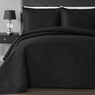 Comfy Bedding Floral Thermal Pressing 3-piece Oversized Coverlet Set