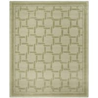 Martha Stewart by Safavieh Resort Weave Pumpkin Seed / Green Wool Area Rug - 9' x 12'