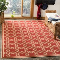 Martha Stewart by Safavieh Red / Cream Area Rug - 8' x 11'2""