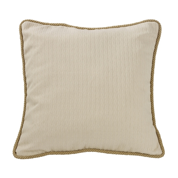 HiEnd Accents Knitted Euro Sham With Rope Detail