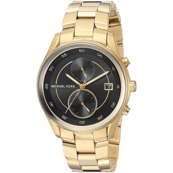 58a61e5f52fc Shop Michael Kors Women s  Briar  Chronograph Gold-Tone Stainless Steel  Watch - Free Shipping Today - Overstock - 15907894