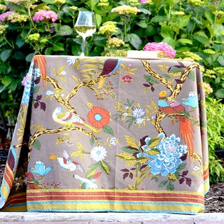 Handmade Bird Sympony Table Cloth (60x90) (India)