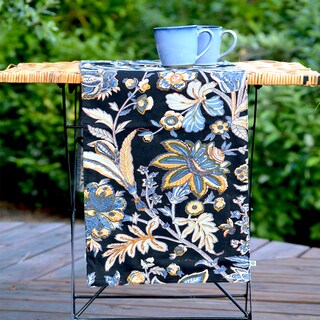 Handmade Boho Batik Table Runner (13x60) (India)