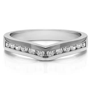 14k Gold Classic Contour Wedding Ring mounted with Cubic Zirconia (1 Cts. twt)|https://ak1.ostkcdn.com/images/products/15907938/P22311945.jpg?impolicy=medium