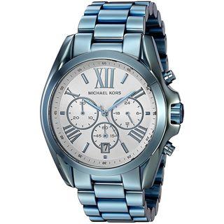 Michael Kors Women's MK6488 'Bradshaw' Chronograph Blue Stainless Steel Watch