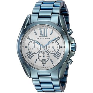 Michael Kors Women's MK6488 'Bradshaw' Chronograph Blue Stainless Steel Watch