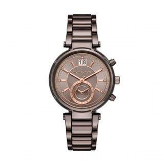 Michael Kors Women's MK6393 'Sawyer' Chronograph Crystal Brown Stainless Steel Watch