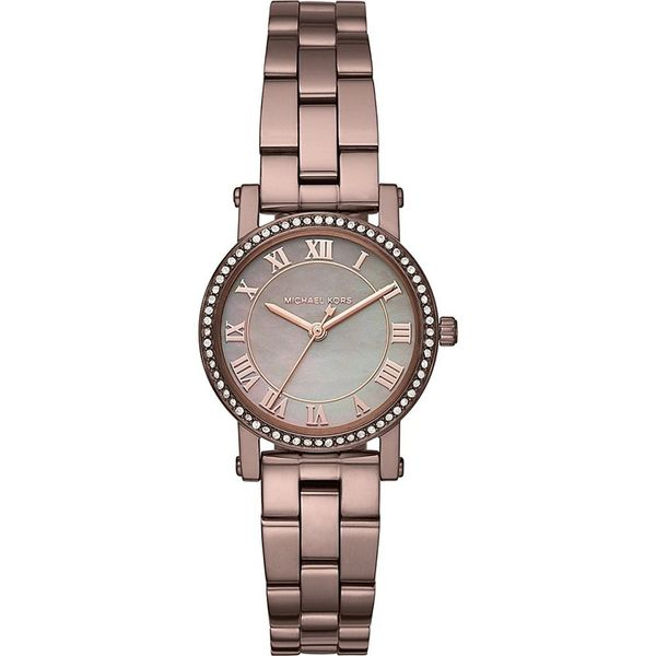 61d113d9efb5 Shop Michael Kors Women s MK3683  Petite Norie  Crystal Brown Stainless  Steel Watch - Free Shipping Today - Overstock - 15908048