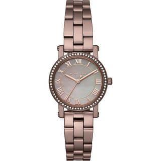 Michael Kors Women's MK3683 'Petite Norie' Crystal Brown Stainless Steel Watch https://ak1.ostkcdn.com/images/products/15908048/P22311894.jpg?impolicy=medium