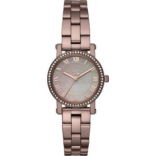 Michael Kors Women's 'Petite Norie' Crystal Brown Stainless Steel Watch