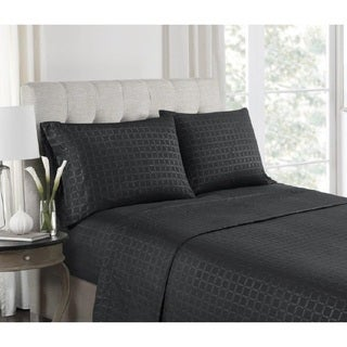 High Point Collection Premium Embossed Double Brushed Microfiber Sheet Set