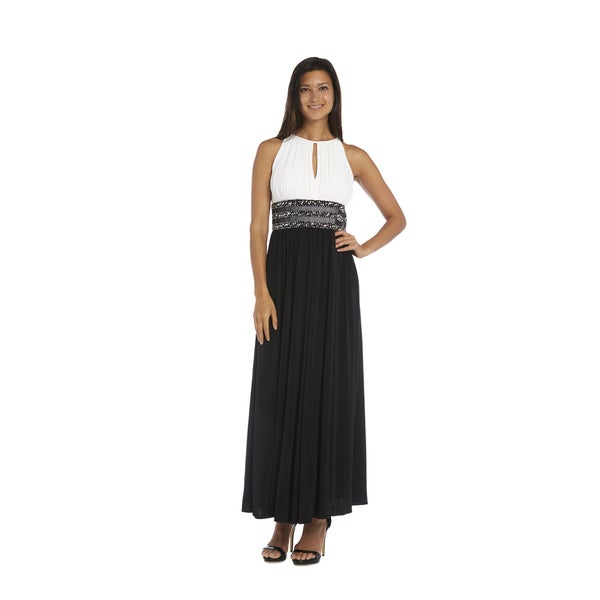 Shop R&M Richards Beaded Gown - Free Shipping Today - Overstock.com ...