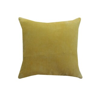 A1HC Yellow Cotton Velvet Handcrafted 20-inch Throw Pillow