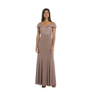 R&M Richards Lace Evening Gown