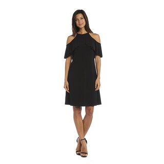 R&M Richards Cold Shoulder Dress