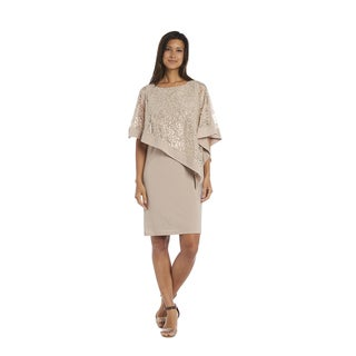 R&M Richards Lace Poncho Dress