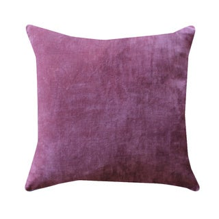 A1HC Handcrafted Solid Velvet Designer 20-inch Feather and Down Filled Throw Pillows-Pink