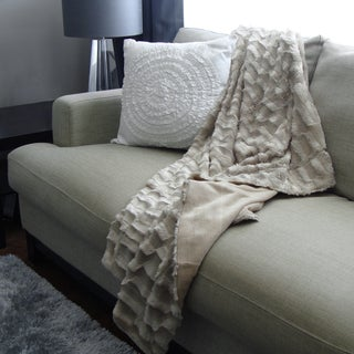 Adrien Lewis Textured Faux Fur Throw