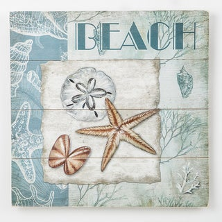 Shells and Beach - Wood Wall Plaque