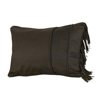 HiEnd Accents Faux Leather Fringe Pillow Sham