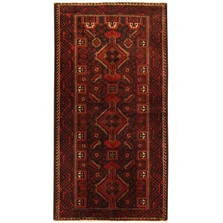 Herat Oriental Persian Hand-knotted Balouchi Wool Rug (3'5 x 6'8)