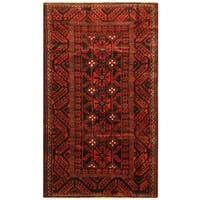 Herat Oriental Persian Hand-knotted Balouchi Wool Rug (4'4 x 7'6)