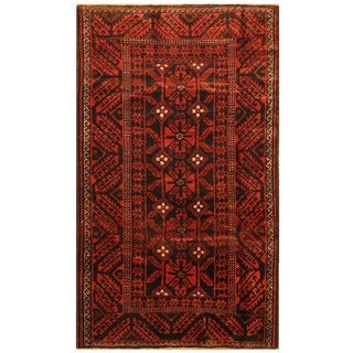 Handmade Herat Oriental Persian Balouchi Wool Rug - 4'4 x 7'6 (Iran)