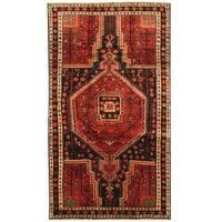 Herat Oriental Persian Hand-knotted Hamadan Wool Rug (4'5 x 8')