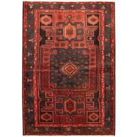 Handmade Herat Oriental Persian Hamadan Wool Rug - 4'8 x 6'9 (Iran)