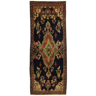 Herat Oriental Persian Hand-knotted Mahal Wool Runner (3'9 x 9'3)