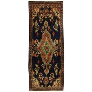 Herat Oriental Persian Hand-knotted Mahal Wool Runner - 3'9 x 9'3